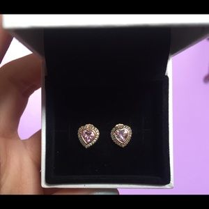 Rose Gold Pandora Earrings